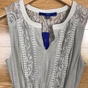 NWT Sleeveless Belted Tan Maxi Dress